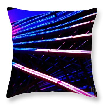 Throw Pillow featuring the photograph Merrygoround by Vanessa Palomino