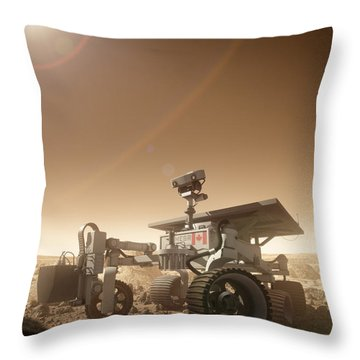Throw Pillow featuring the digital art Mers Rover by Bryan Versteeg