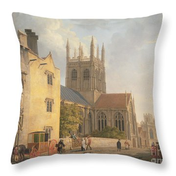Merton College - Oxford Throw Pillow by Michael Rooker