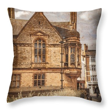 Oxford, England - Merton Street Throw Pillow