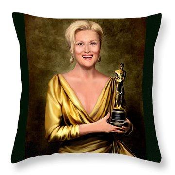 Meryl Streep Winner Throw Pillow