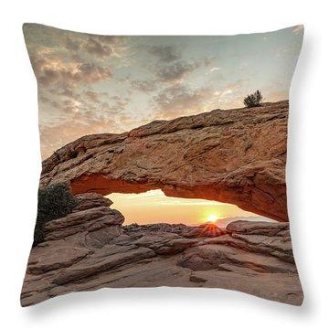 Mesa Arch At Sunrise Throw Pillow