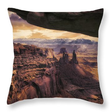 Mesa Arch Throw Pillow by James Bethanis
