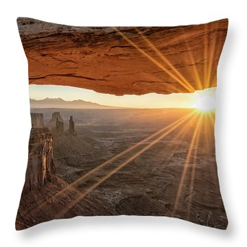 Mesa Arch Sunrise 4 - Canyonlands National Park - Moab Utah Throw Pillow by Brian Harig