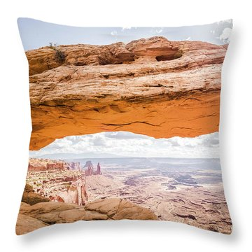 Mesa Arch Sunrise Throw Pillow by JR Photography