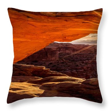 Mesa Arch Triptych Panel 1/3 Throw Pillow