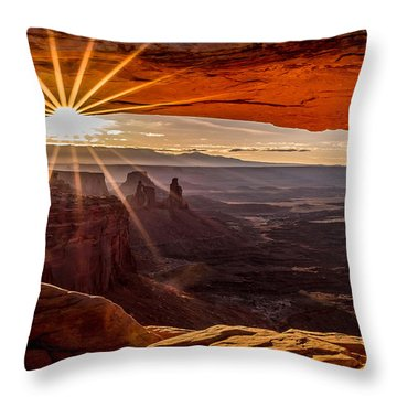 Mesa Arch Triptych Panel 2/3  Throw Pillow