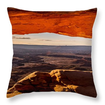Mesa Arch Triptych Panel 3/3 Throw Pillow