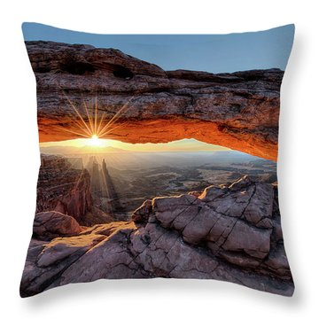 Mesa Arch Sunburst By Olena Art Throw Pillow