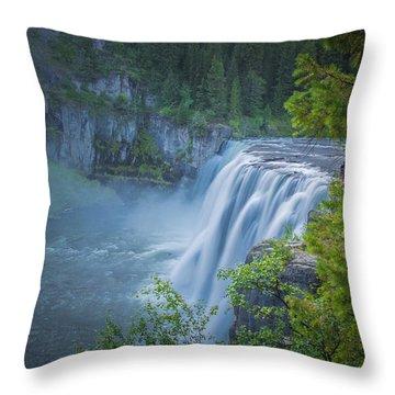 Mesa Falls - Yellowstone Throw Pillow by Dan Pearce