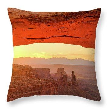 Mesa Rising Center Throw Pillow