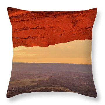 Mesa Rising Right Throw Pillow