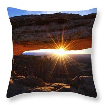 Mesa Sunrise Throw Pillow