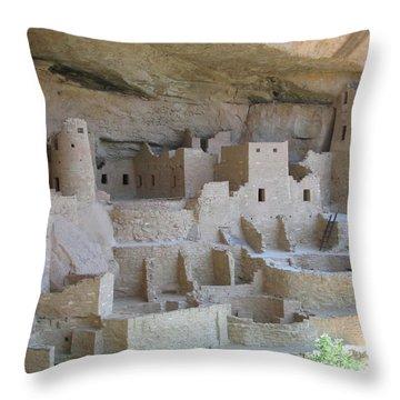 Throw Pillow featuring the digital art Mesa Verde Community by Gary Baird
