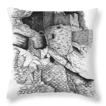 Mesa Verde Throw Pillow by Lawrence Tripoli