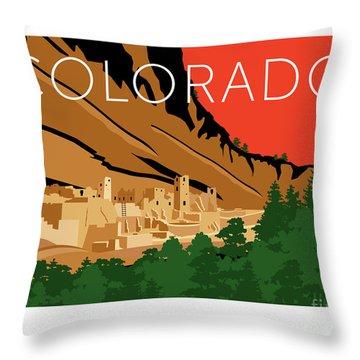 Mesa Verde Orange Throw Pillow