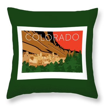 Mesa Verde Orange Throw Pillow