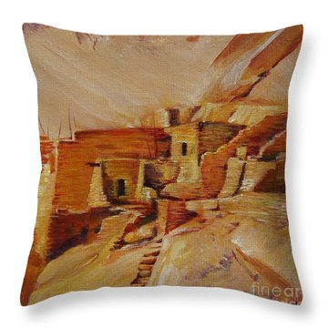 Mesa Verde Throw Pillow by Summer Celeste