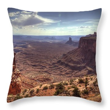 Mesas And Canyons Throw Pillow