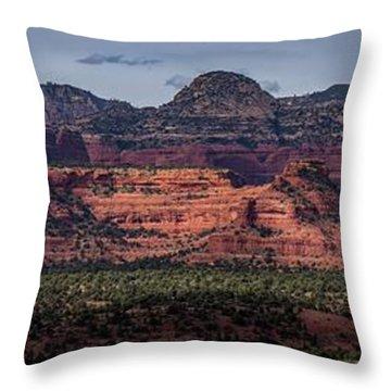 Mescal Mountain Panorama Throw Pillow