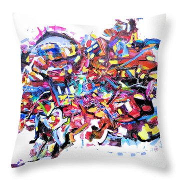 Mescalito Speedboat Throw Pillow