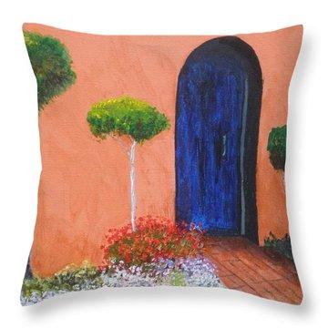 Mesilla Door Throw Pillow