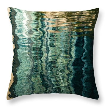 Mesmerizing Abstract Reflections Two Throw Pillow