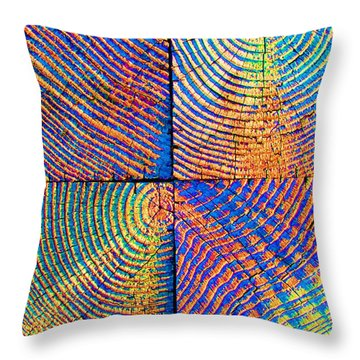 Rainbow Powerwood Throw Pillow