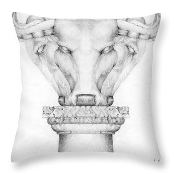 Mesopotamian Capital Throw Pillow by Curtiss Shaffer