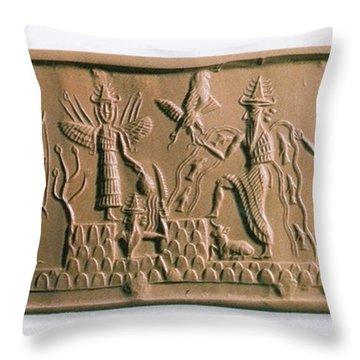Mesopotamian Gods Throw Pillow