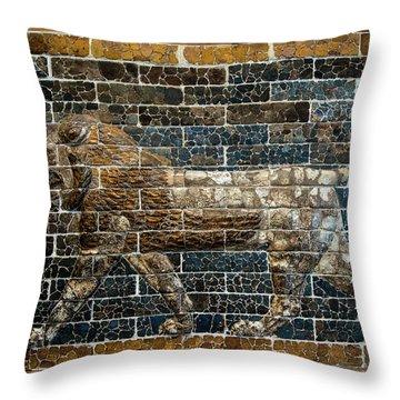 Mesopotamian Lion Throw Pillow