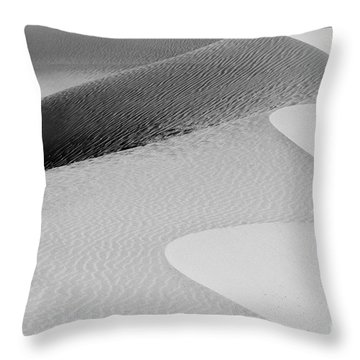 Throw Pillow featuring the photograph Mesquite Dunes Patterns by Sandra Bronstein