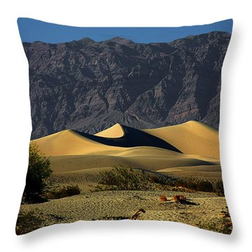 Mesquite Flat Dunes - Death Valley California Throw Pillow by Christine Till
