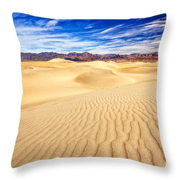 Mesquite Flat Sand Dunes In Death Valley Throw Pillow