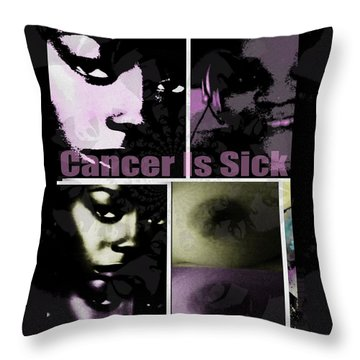 Message For All Throw Pillow by Fania Simon