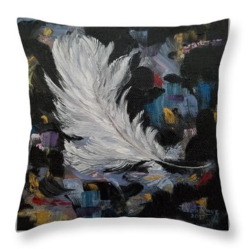 Throw Pillow featuring the painting Message Received by Judith Rhue