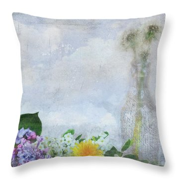 Throw Pillow featuring the photograph Messages Bottled In Time by Anna Louise
