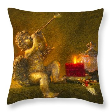 Throw Pillow featuring the painting Messages From Heaven by Greg Olsen