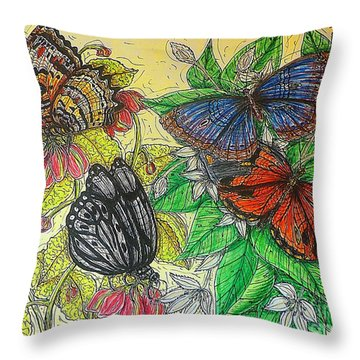 Messengers Of Beauty Throw Pillow