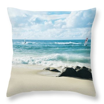 Throw Pillow featuring the photograph Messengers Of Light by Sharon Mau