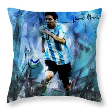 Worldcup Paintings Throw Pillows