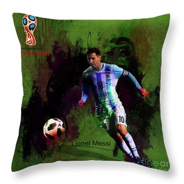 Messi In World Cup 2018 Russia  Throw Pillow