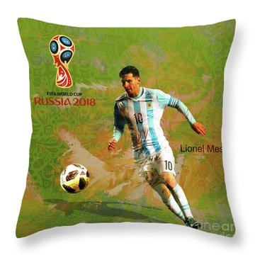 Messi World Cup 2018  Throw Pillow