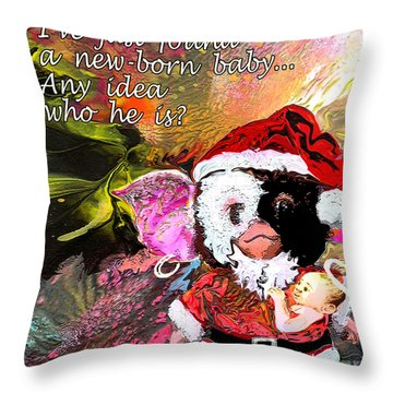 Messiah Found Throw Pillow by Miki De Goodaboom