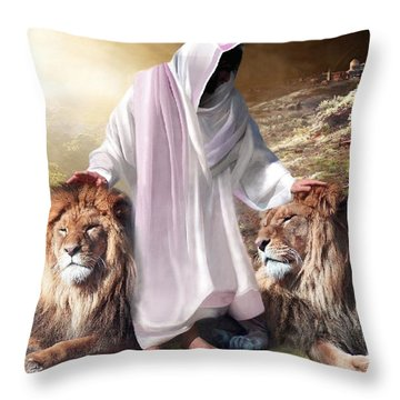 Messiah Israel And Judah Throw Pillow by Bill Stephens