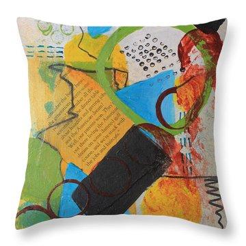 Messy Circles Of Life Throw Pillow
