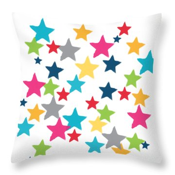 Messy Stars- Shirt Throw Pillow