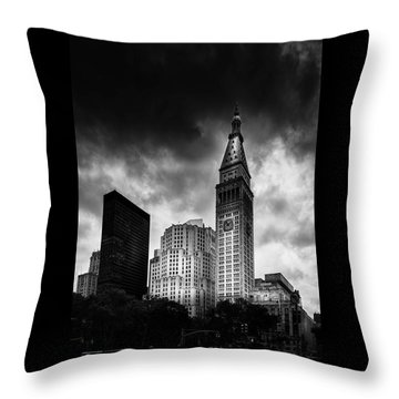 Throw Pillow featuring the photograph Met-life Tower by Marvin Spates