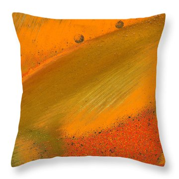Throw Pillow featuring the photograph Metal Abstract Four by David Waldrop