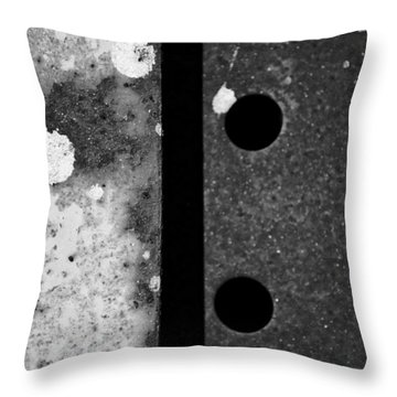 Metal And Alloys...two Throw Pillow by Tom Druin